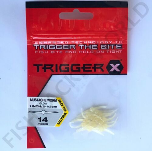 """Variety of Colours RAPALA TRIGGER X 1/"""" /& 1.5/"""" /& 2/"""" MUSTACHE WORM"""