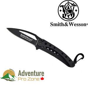Smith-amp-Wesson-SWPRO-BK-Pocket-Protector-Plain-Edge-Knife-440C-steel
