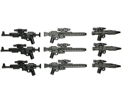 LOT OF 5 BLACK with bullets MINI BLASTER GUN NEW LEGO STAR WARS