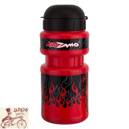 KIDZAMO FLAME 10oz WATER BOTTLE W// CAGE