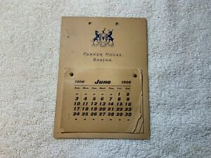 Antique-1906-Calendar-PARKER-HOUSE-Boston-Massachusetts