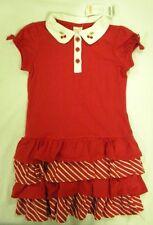 NEW Gymboree Girls Cherry Cute Cherries Red White Tiered Ruffle Dress Size 4 4T