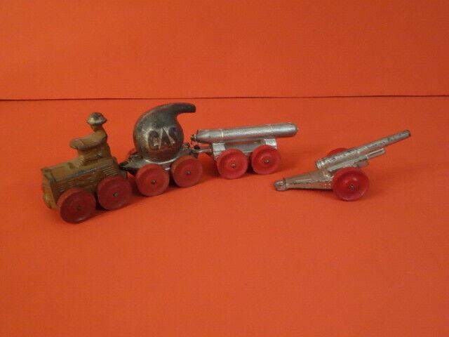 All Original BARCLAY Tractor With 2 Trailers & Cannon Jahr Slush Modells (47)