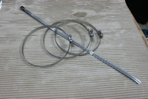 10 X Acier Inoxydable Conduit Bande Jubilee Clip WORM DRIVE Tuyau Bride 50-160 mm