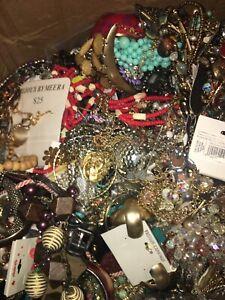 Vintage To Now Junk Drawer Jewelry Lot Repair Reuse Wear Resale 20 lbs LFRB