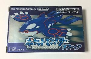 USED-Nintendo-GBA-Pocket-Monster-Sapphire-JAPAN-Pokemon-import-Japanese-game
