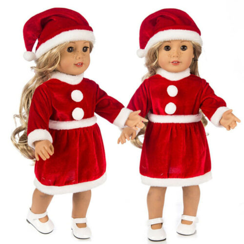 Chirstmas Clothes Dress Hat For 18 Inch Cute Boy Doll Accessory Girls Toy New