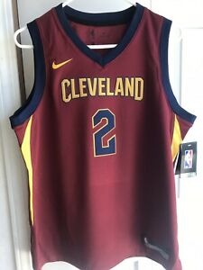 outlet store sale b9934 52ae1 Details about NWT $70 Nike Cleveland Cavaliers Kyrie Irving #2 throwback  Jersey YOUTH Md