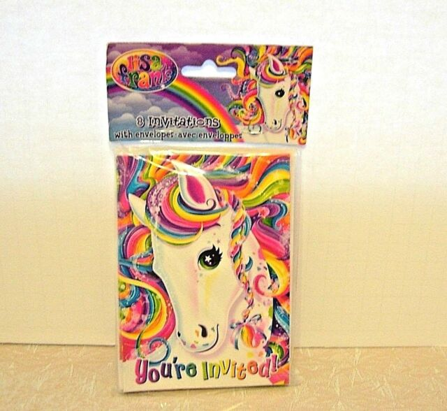 New Lisa Frank Rainbow Majesty Horse Birthday Party Invitations 8 Count Sealed