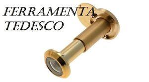 Dettagli su SPIONCINO OCCHIO MAGICO PER PORTE D\'INGRESSO DORATO DIAMETRO 16  MISURA 80/120