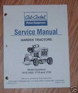 cub cadet 1430 1730 service manual ebay rh ebay com Cub Cadet Repair Manuals cub cadet shop manuals downloads