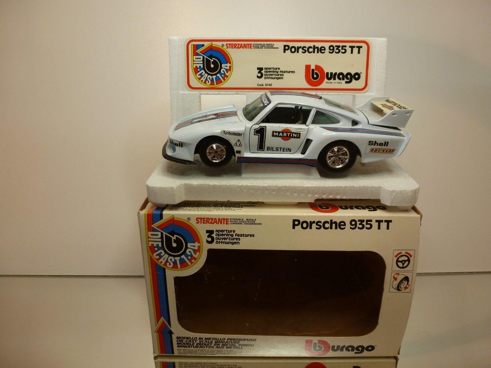 BBURAGO 0142 PORSCHE 935 TT MARTINI  1  - blanc 1 24 - GOOD CONDITION IN BOX