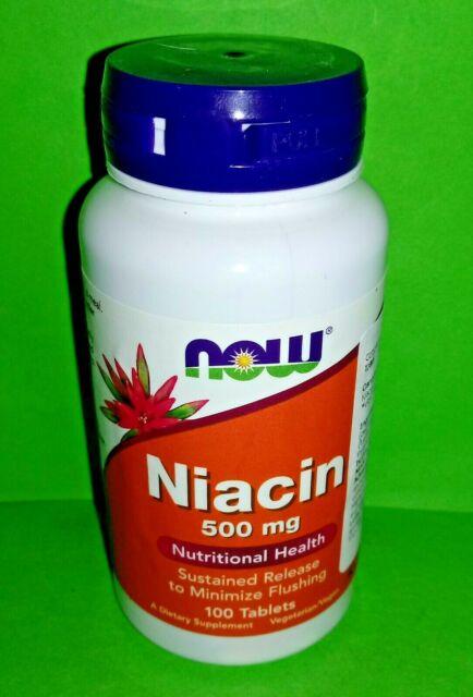 Niacina B3 500 mg 100 tabletas Now Foods