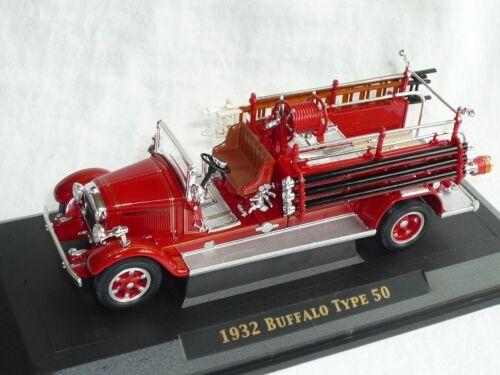 Buffalo Type 50 1932 rojo de bomberos 1//43 Yatming yat ming maqueta de coche modelo coche