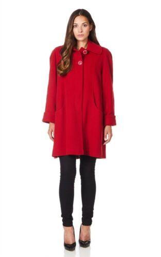 Womens Wool /& Cashmere Blend Swing Coat Ladies 3 Quarter Jacket Sizes 10-24