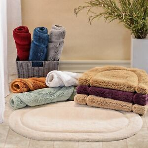 1 new tub-shower beige bath mat premium ringspun coton soft /& absorbent 20x30