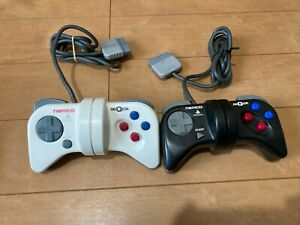 PS1-NEGCON-WHITE-amp-BLACK-Controller-Only-NAMCO-PlayStation