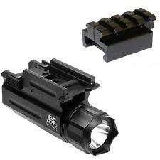 PISTOL FLASHLIGHT WITH ADAPTER FOR SMITH AND WESSON SW9VE SW40VE SIGMA PISTOL