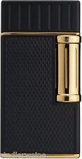 Colibri Zigarrenfeuerzeug Julius/2fach Schrägflamme / Schwarz matt Gold / 205 g