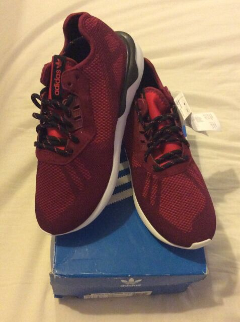 huge discount dcc7f b29af Adidas Tubular Runner Weave Burgundy Black Size 8.5