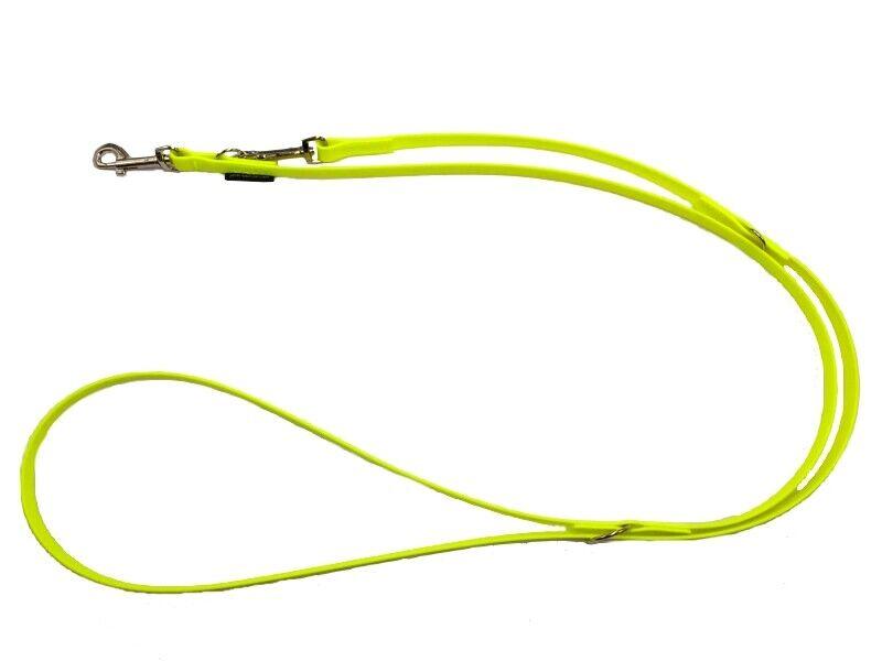 Elropet® Hundeleine neongelb BioThane® verstellb 2,40m 2,80m 3,50m vers Breiten  | Elegante Und Stabile Verpackung