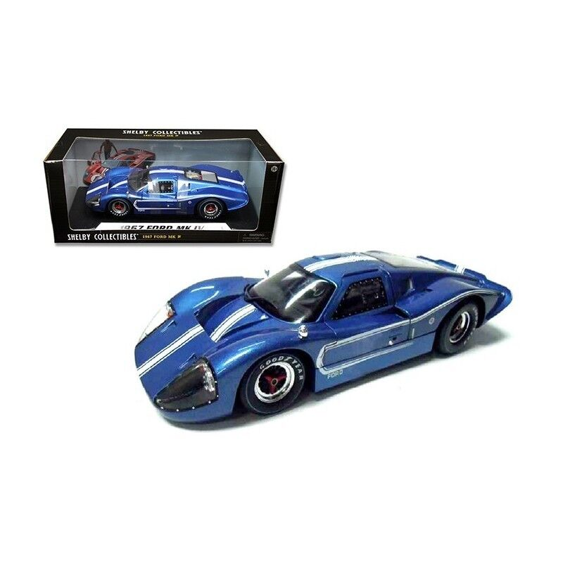1 18 1967 ford gt40 mkiv, mkiv, mkiv, azul blancoo SHELBY COLLECTIBLES 422 365144