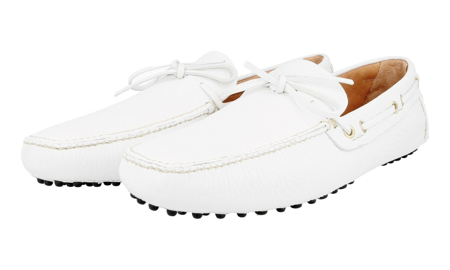 L SO CAR SHOE by Prada Slipper   kud006 BIANCO NUOVO NEW 10,5 44,5 45