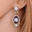 1Pair-Elegant-Women-White-Resin-Gray-Crystal-Ear-Stud-Eardrop-Earring-Jewelry thumbnail 4