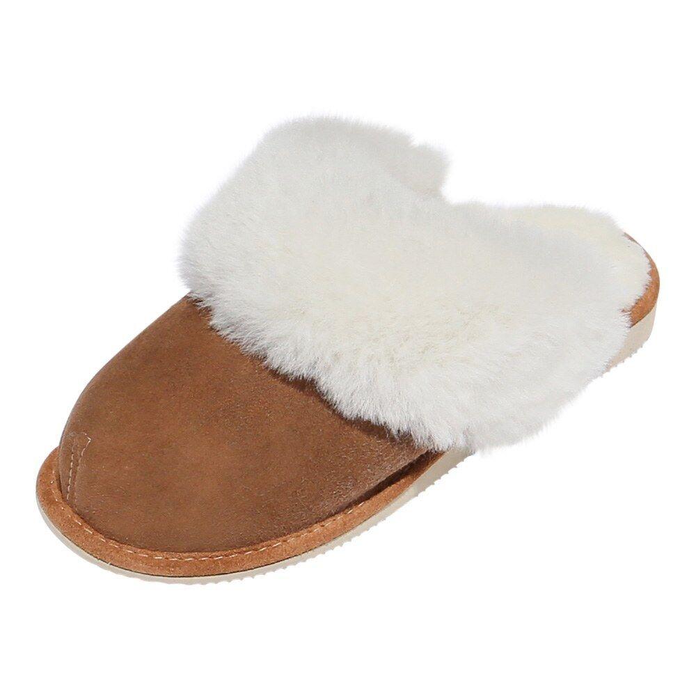 Pantofole in pelle di agnello - NEW ZEALAND donna scarpe pelliccia