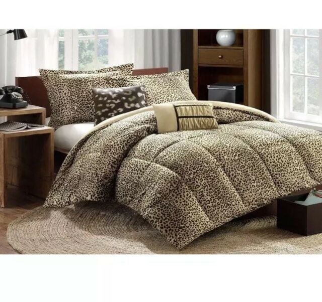 Bed Bath Beyond Cozy Comforter Set In Bag Twin Xl Amara Leopard