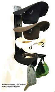 American Made Cowboy Cool Hat Rack Black with Black Chrome Finials ... 5b8c4ce9bb49