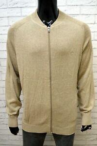 Cardigan-Uomo-CAMEL-Taglia-XXL-Pullover-Cotone-Sweater-Man-Maglione-Zip-Felpa
