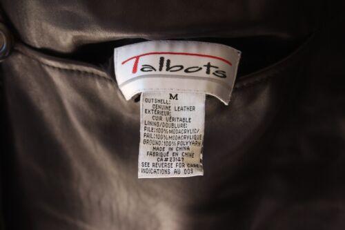Faux Læder Jakke Talbots Ægte M Dame Fur wqUBx6