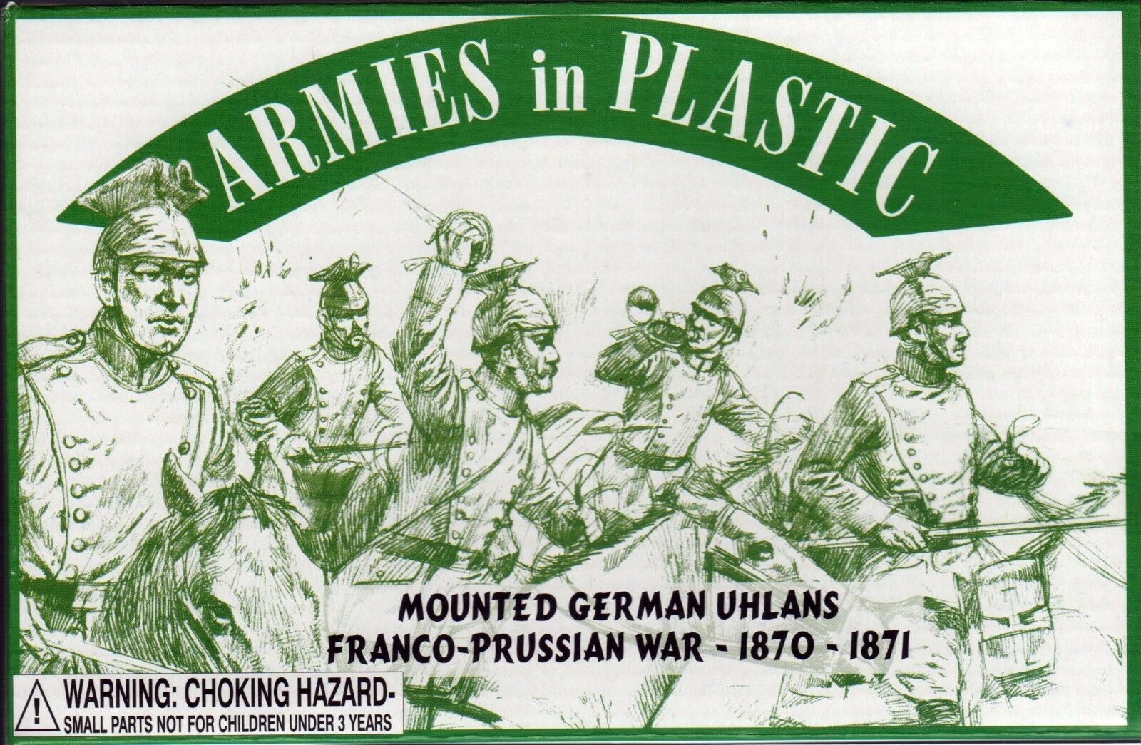 Armies in Plastic Franco-Prussian War #2 Germans French Cavalry Krupp Gun 54mm