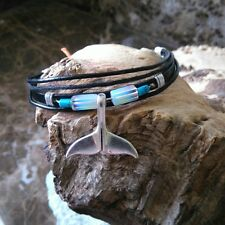 Womens  Leather  Friendship  Surfer Whale Tail  Eco Friendly Whale Tail