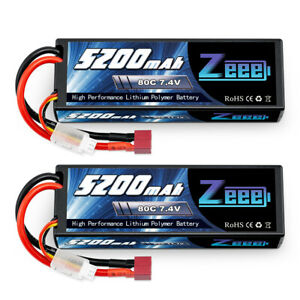 2pcs-5200mAh-80C-7-4V-LiPo-Battery-2S-Deans-Hardcase-for-RC-Car-Truck-Helicopter