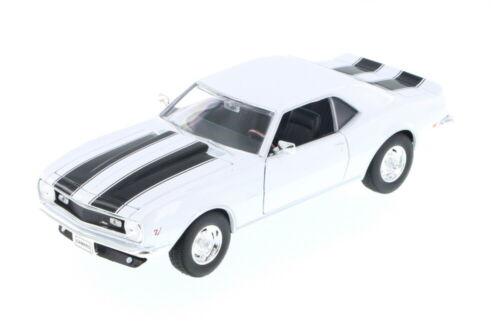 Welly 22448-1//24 Scale Diecast Model Toy Car White 1968 Chevy Camaro Z//28