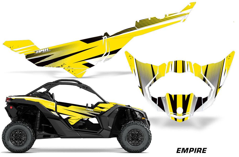 Utv Aufkleber Grafik Kit Kit Kit für Can-Am Maverick X3 Ds Rs 2016-2018 Empire Gelb 5304b1