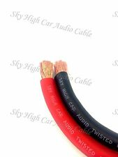50 ' ft 2/0 Gauge AWG 25' RED / 25' BLACK Power Ground Wire Sky High GA ft