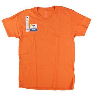 Fruit-of-the-Loom-Big-Men-Eversoft-Short-Sleeve-V-Neck-T-Shirt-Tangerine-4XL