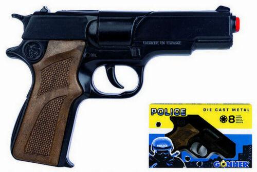 Nueva Pistola juguete Policia 8 tiros Negra Envio gratis peninsula