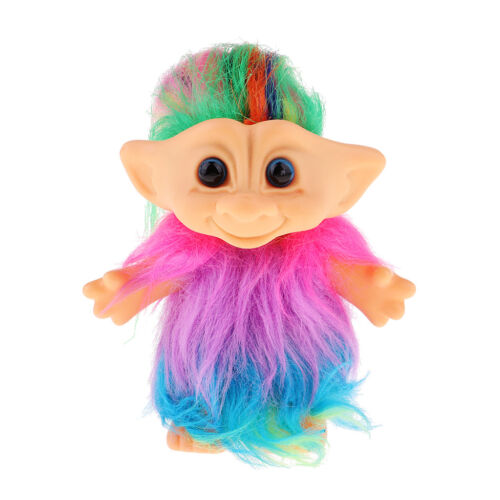 Delicate Lucky Troll Doll Mini Action Figures Toy Cake Decoration Colorful