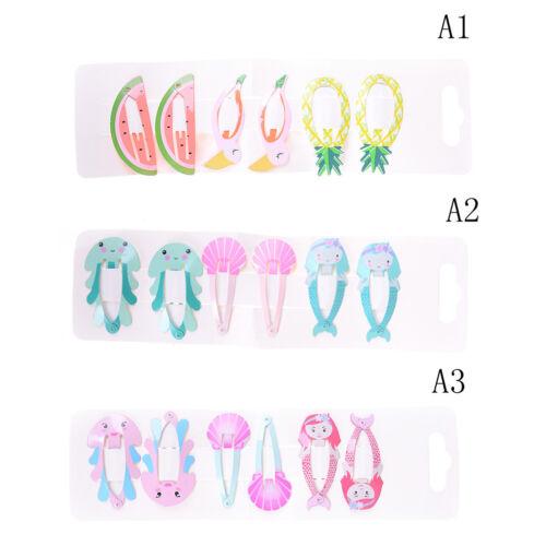 6PCS//set Mermaid Shell BB Clips Girls Hair Accessory Headwear Baby Hair Clip Pip