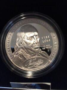 2006-Benjamin-Franklin-034-Scientist-034-Proof-Silver-Dollar-Commemorative