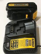 DeWalt 20V Li-Ion Battery DCB201 /& Charger DCB112 Set for Cordless Tool