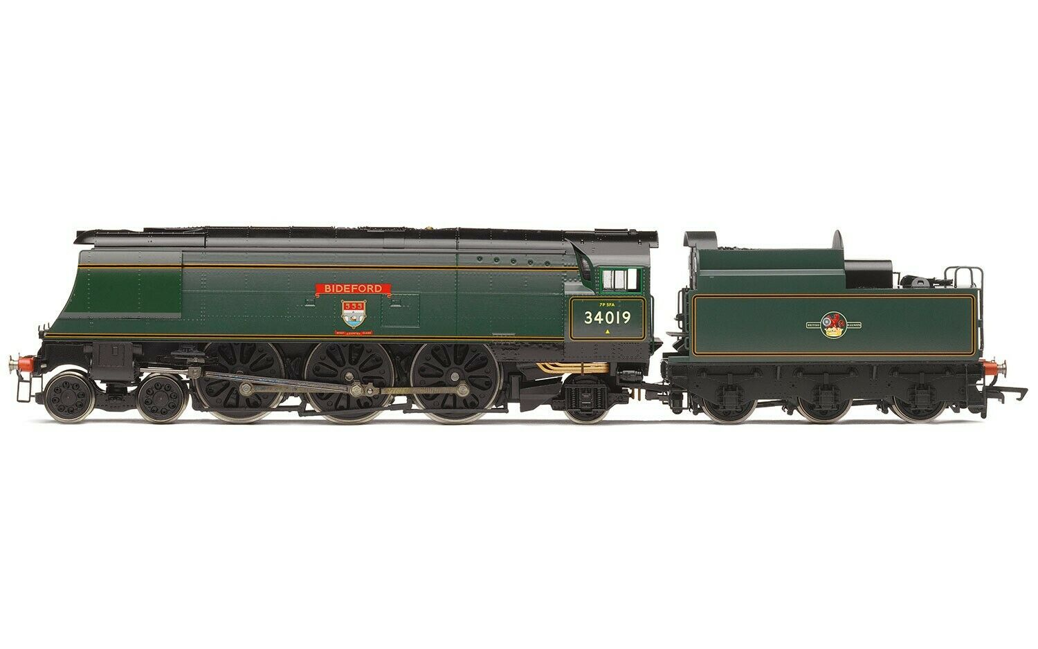 Hornby R3638 Late BR Original West Country classe BIDEFORD 34019 DCC Ready