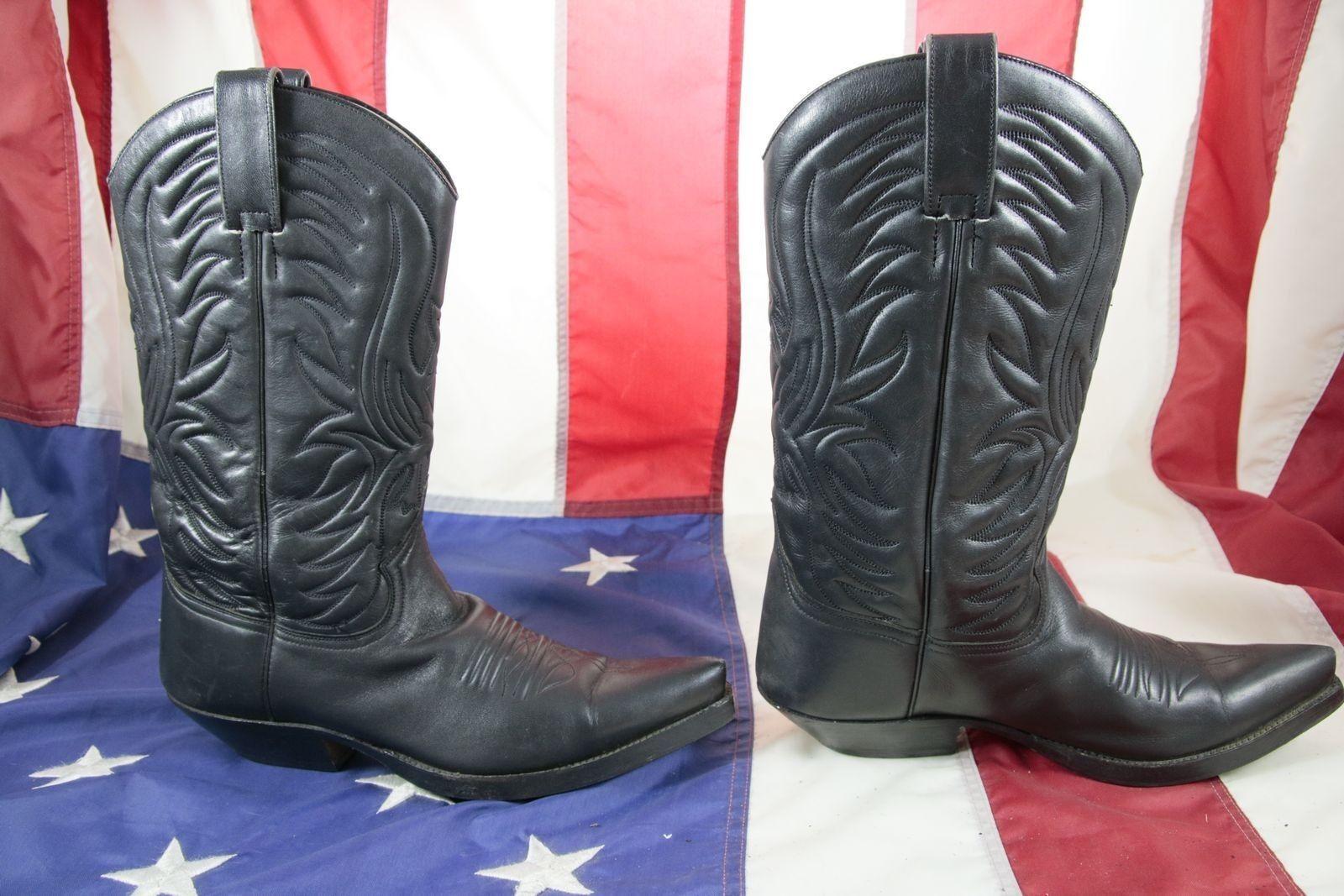 Stiefel BUFFALO cod. ST1838 schwarze gebraucht N.40 Frau Haut schwarze ST1838 Cowboy Bikers 42811d