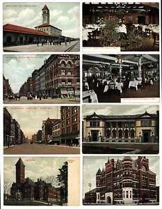 A0993 : (16) 1900's Spokane, Lavage Couleur Cartes Postales