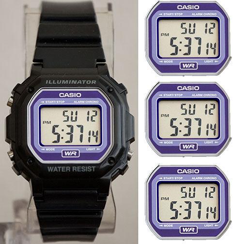 Casio F-108WHC-1B Illuminator Collection Black Resin Strap Digital Watch UNISEX