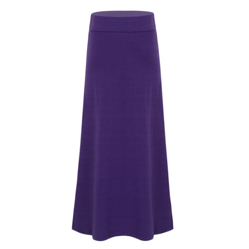 Girls Long Maxi Skirt Kid School Uniform Solid Skirts Dress Party Casual Clothes